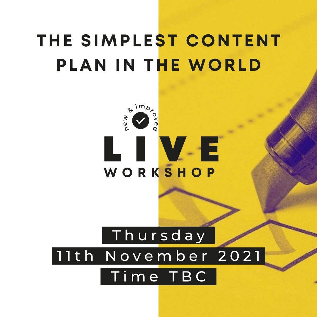 The Simplest Content Plan In The World